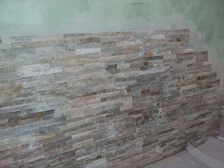 pierre de parement pierre naturel beige design contemporain zen cachet double encollage intérieur