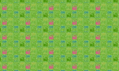 80's trunk green pattern