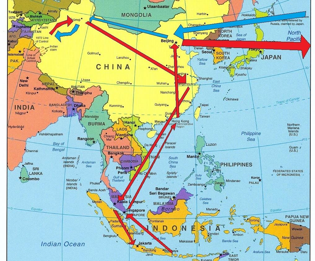 Profil 8 Negara Asia Timur Beserta Ibukotanya Gambar Peta Barat