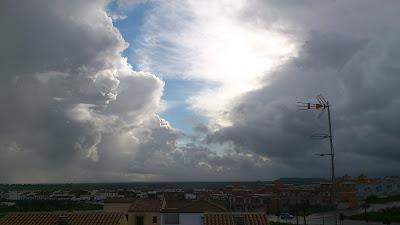 Nubes en Gerena