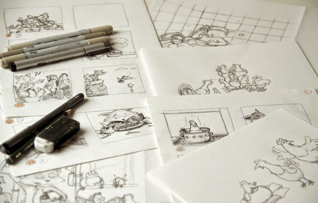 Cartoon, Coppenrath Verlag, Fuchs, Hühner, Hennen, Kommoss
