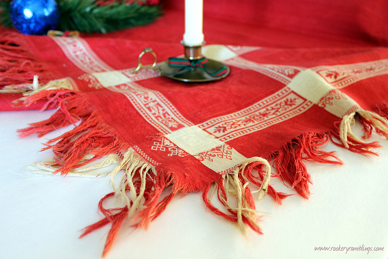 Rookery ramblings christmas giveaway turkey red tablecloth for 12 days of christmas table cloth