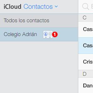 contactos icloud grupo