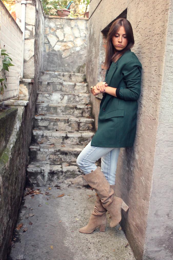 Zara Forest Green Blouse 48