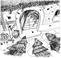 Cena da história em quadrinhos Três Sombras, de Cyril Pedrosa