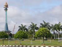 The Jubilee Monument beside Belait River