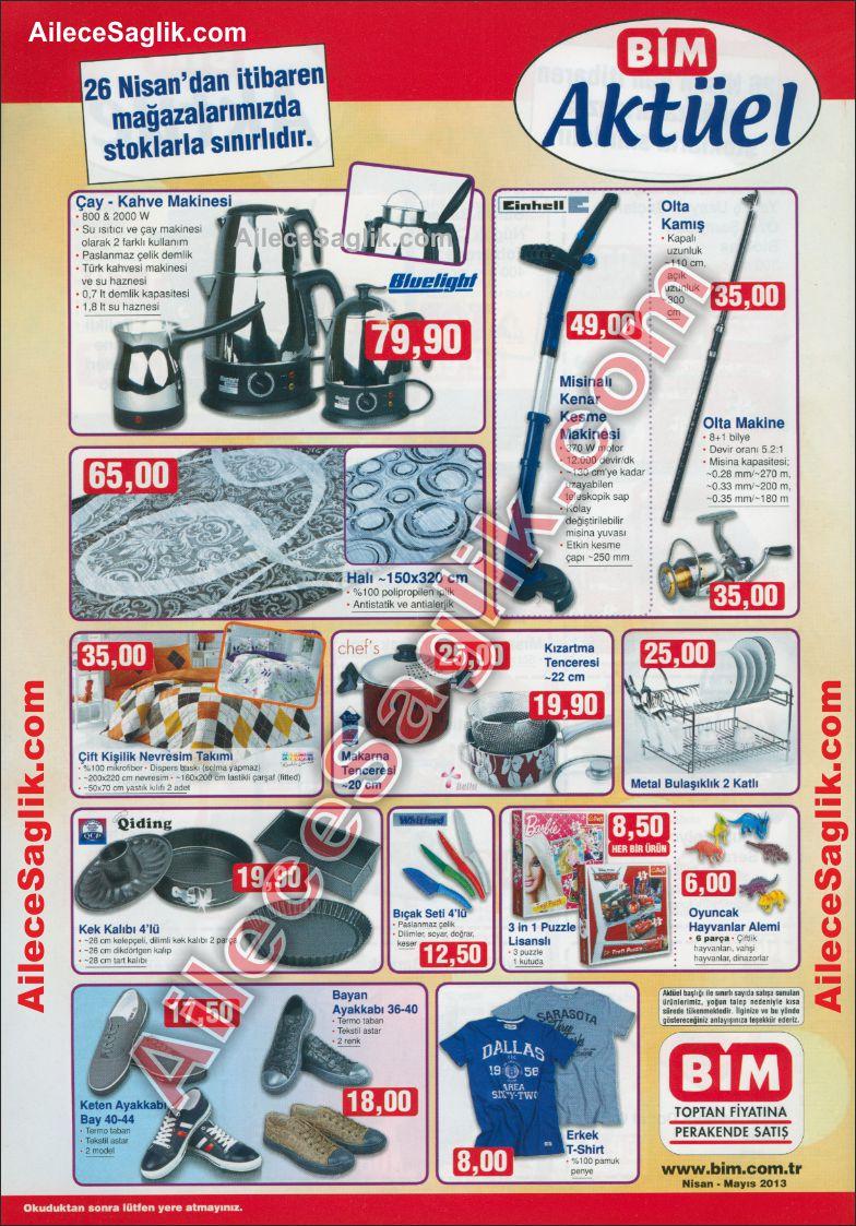Bim 26 Nisan 2013 Aktüel Ürünler Broşürü 1