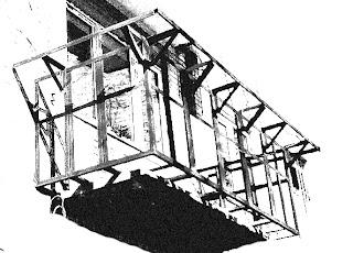 Чертёж каркаса для выноса на балконе