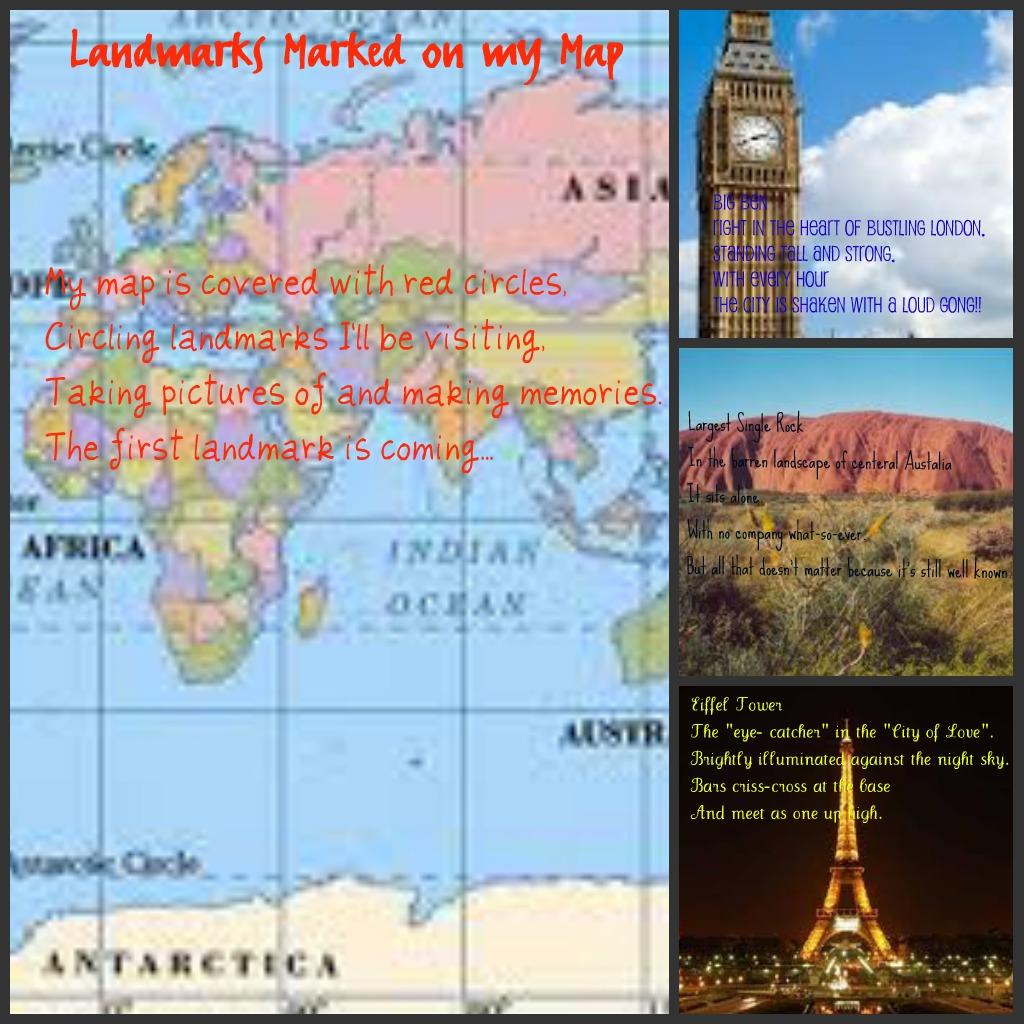 Around the World in 80 Days: Quatrain: Landmarks Marked on my Map