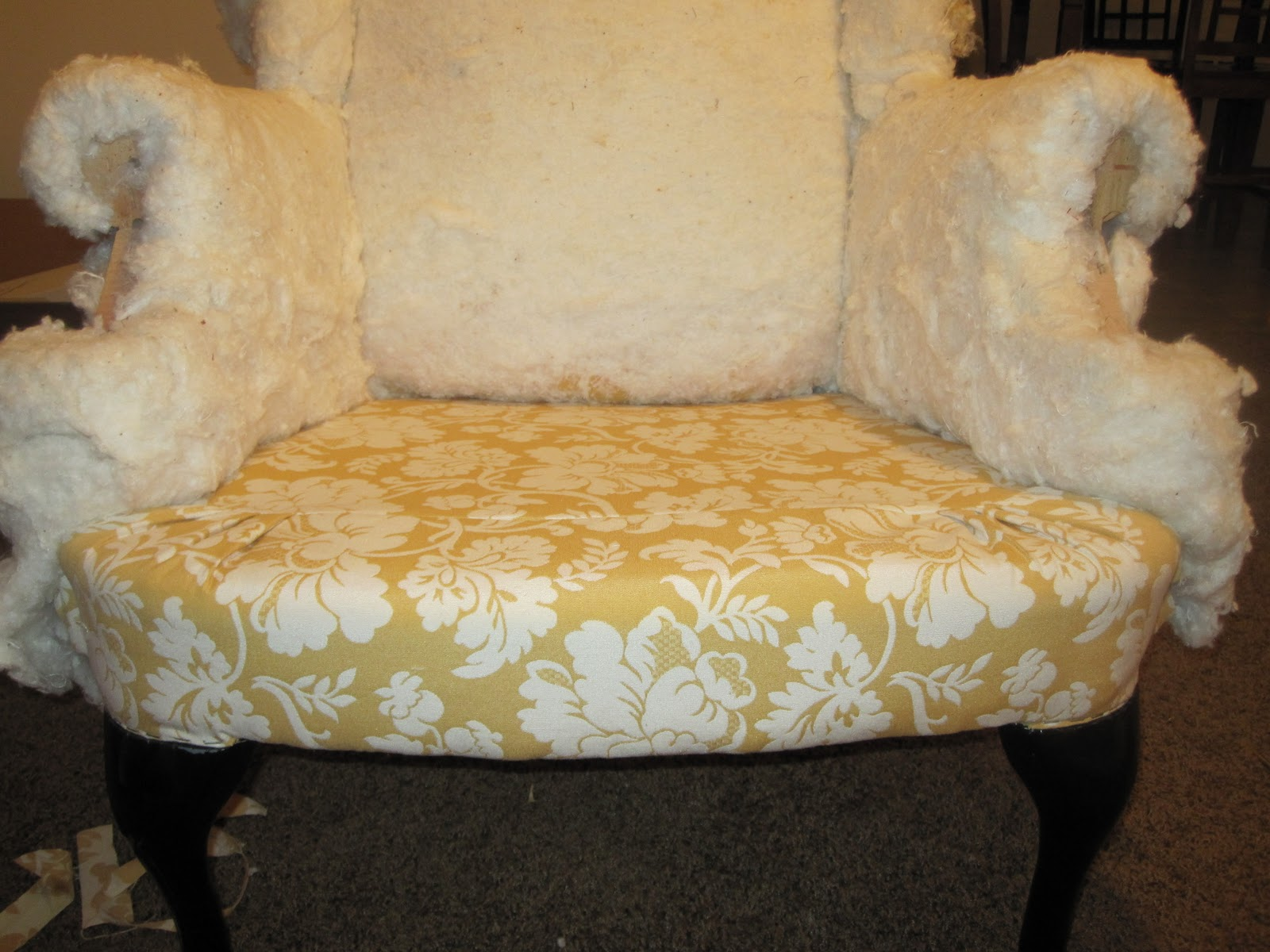 Reupholster wingback chair - Diy Torture I E Reupholstering A Wingback Chair Part 2
