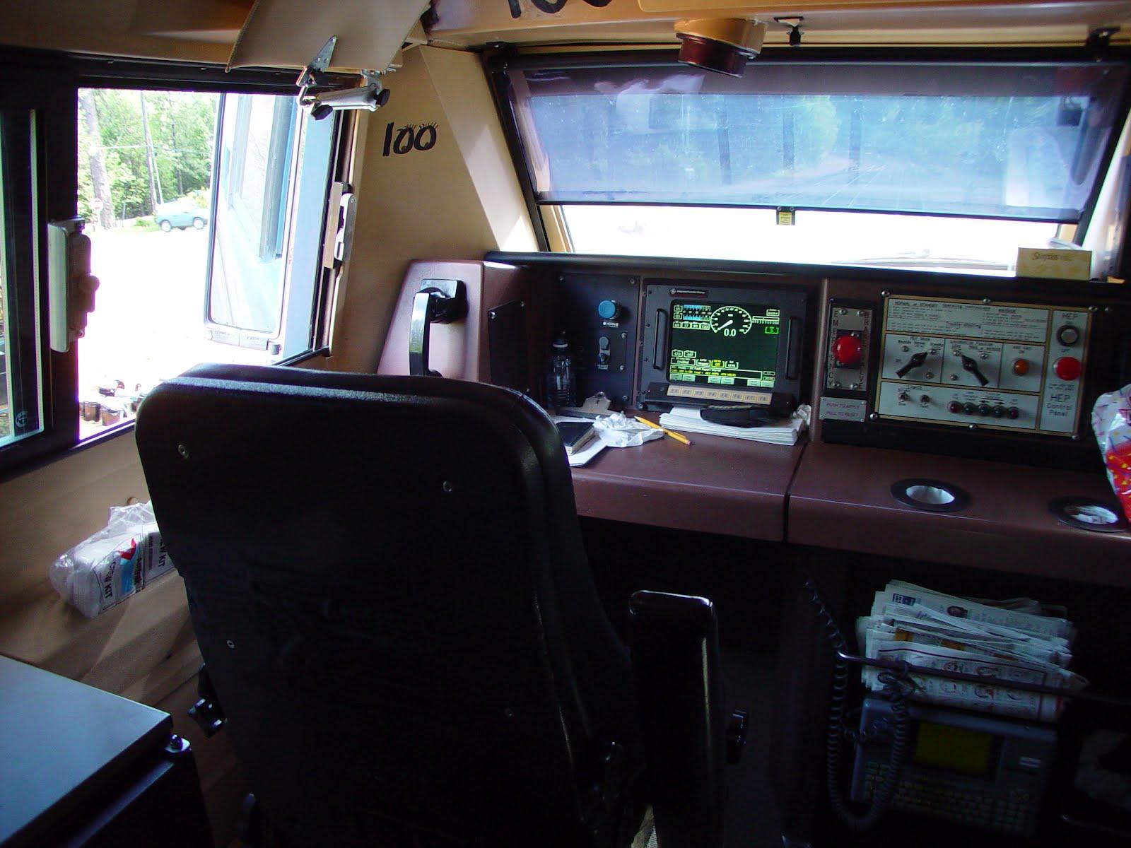 milepost 154 a train blog inside an amtrak ge p42dc locomotive. Black Bedroom Furniture Sets. Home Design Ideas