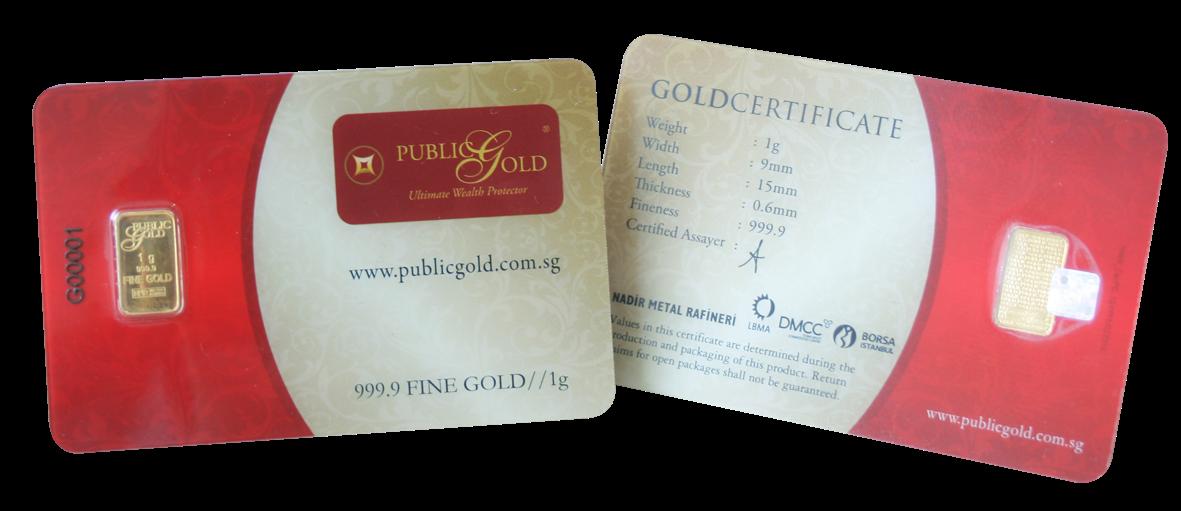 Publicgold 1 gram bar