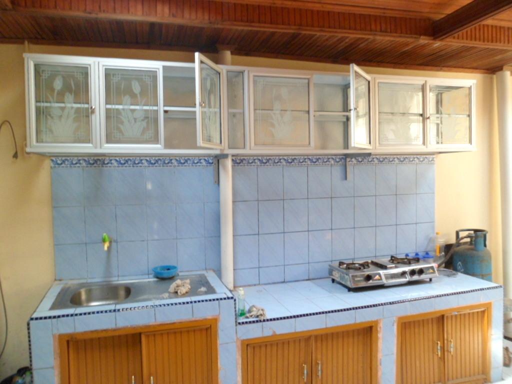 Lemari gantung aluminium for Dapur set aluminium