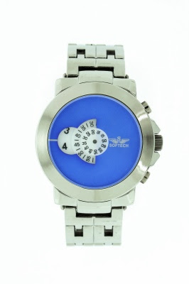 Blue face watch