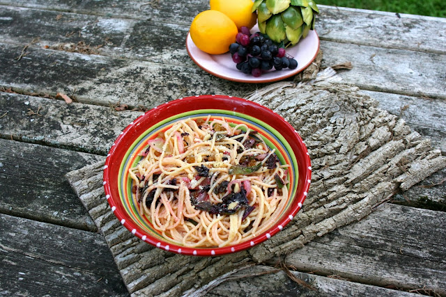 Beet Greens Pasta: Simple Living and Eating