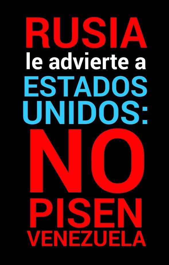 NO PISEN VENEZUELA, GRINGOS...