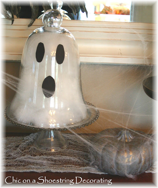 DIY Halloween ghosts by Chic on a Shoestring Decorating blog