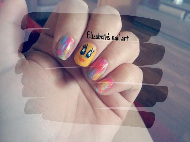 Diseño tonos acuarela nail art