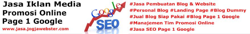 Jasa Pembuatan Blog, Website, SEO Page 1 Google, Manajemen Tim Promosi Online Profesional