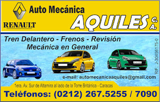 AUTO MECANICA AQUILES, C.A. en Paginas Amarillas tu guia Comercial