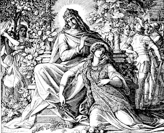 Solomon with one of his wives - Artist unknown