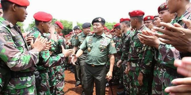 Buktikan kesiapsiagaan, Panglima TNI sidak Grup 1 Kopassus