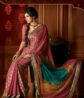 Traditional way of saree draping