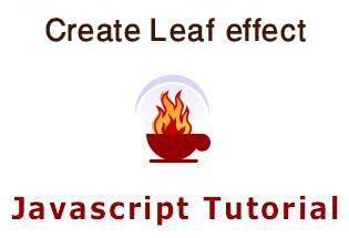 Create leaf effect | JavaScript Tutorial