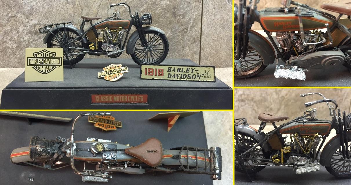 1918 Harley Davidson 1:18 scale