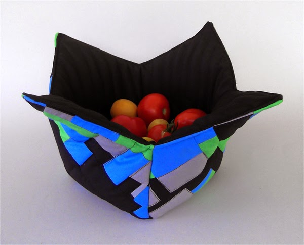 fabric bowl, fabric basket, fabric container, fruit bowl, contemporary fruit bowl, design fruit bowl,