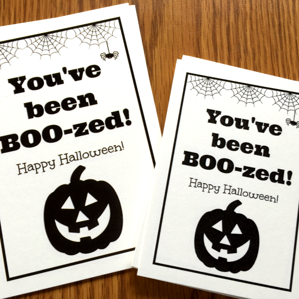 image about You've Been Boozed Printable identified as Karens Options Galore!: Youve been BOO-zed (with Cost-free Printable)