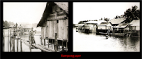 Brunei kampong Ayer in Past