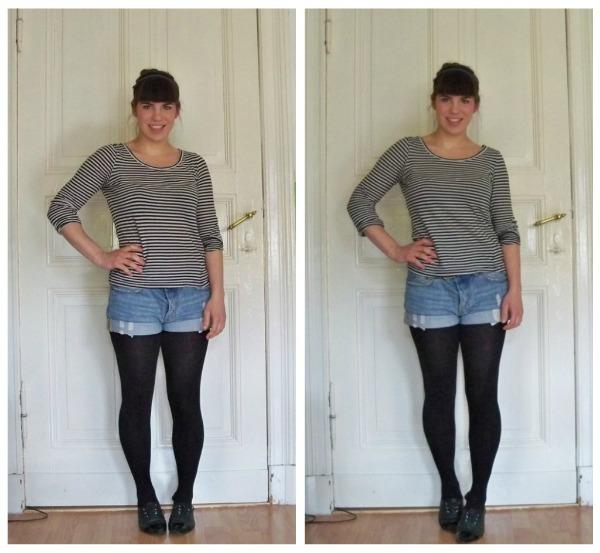 30 Kleidungsstücke für 30 Tage ergeben 30 verschiedene Outfits Tag 25