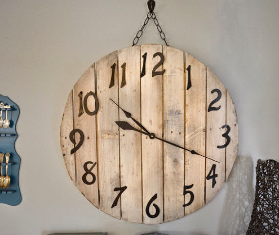 Diy c mo hacer un reloj de madera casas ideas - Relojes rusticos de pared ...