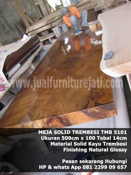 Meja alami solid kayu trembesi furniture antik mebel solid supplier jepara