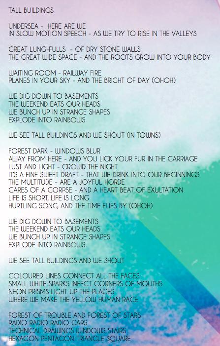 'tall Buildings' Song Lyrics