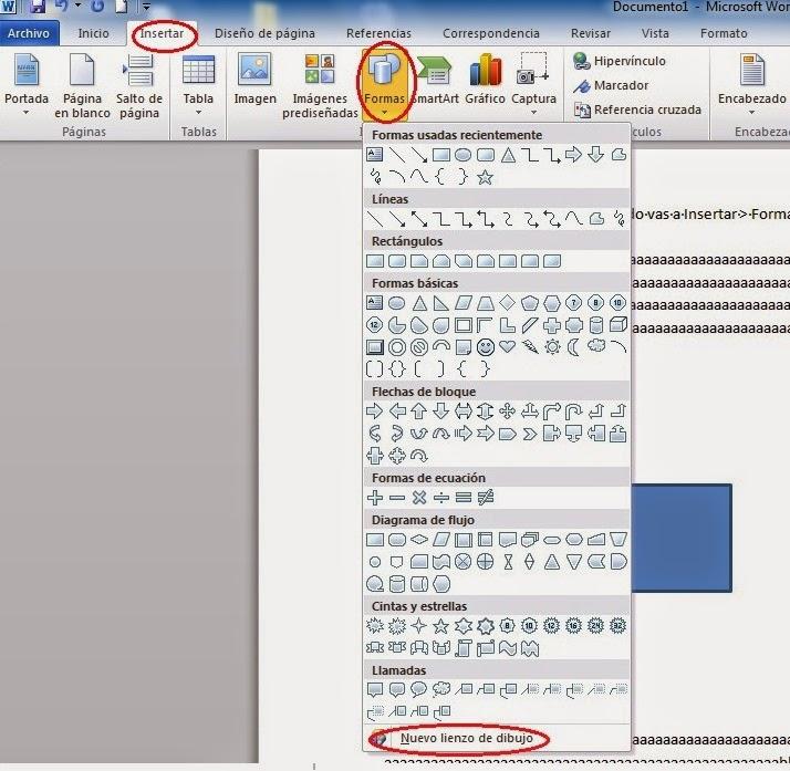 La Tecnologa Contraataca Office Word 2010  Dibujar fromas sobre