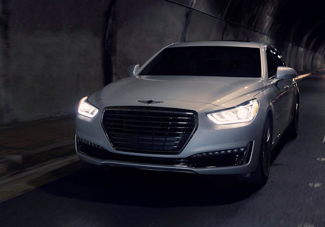 2017 Genesis G90 front white