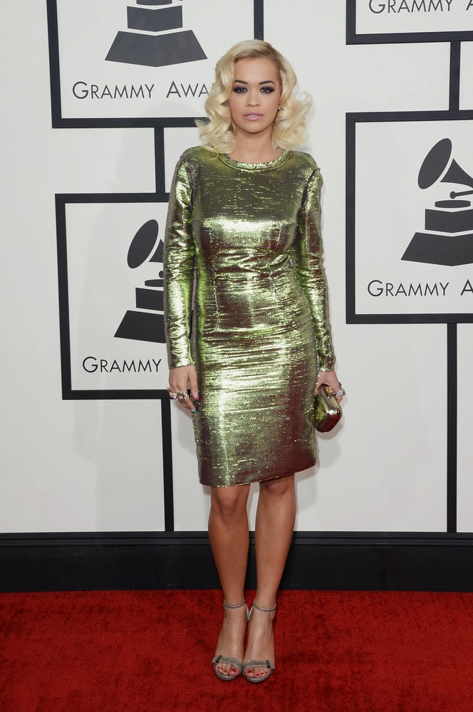 Rita Ora in Lanvin at the Grammys