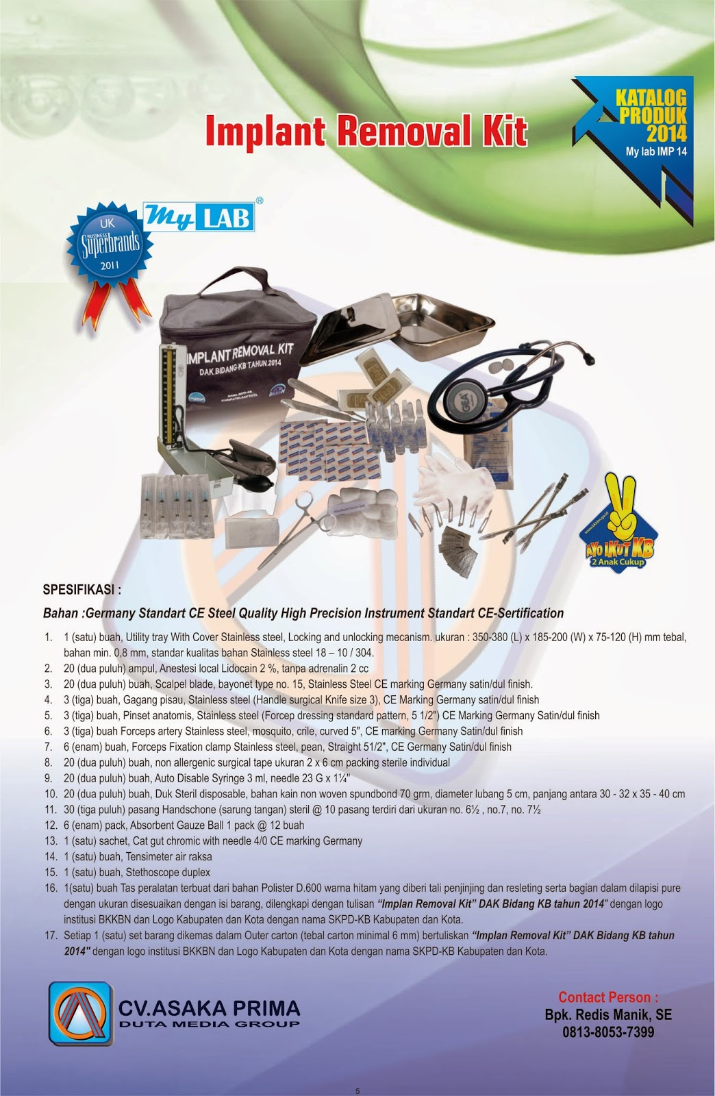 IMPLANT REMOVAL KIT 2014 ~   IMPLANT KIT BKKBN