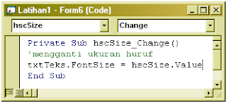 Cara Membuat Hscrollbar dan Vscrollbar (VB 6.0)
