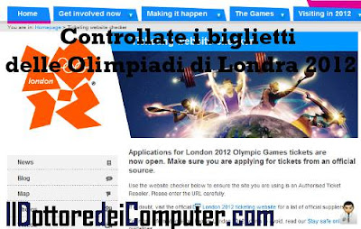 controllare i biglietti londra 2012