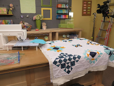 free motion quilting with rulers on sewing machine
