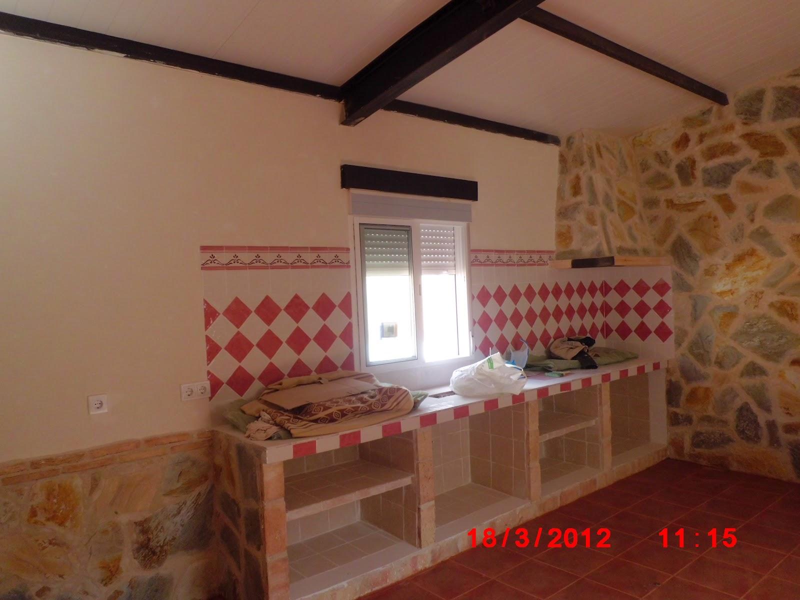 Obras a l s como hacer una cocina paso a paso 3 parte - Cocinas de obra rusticas ...