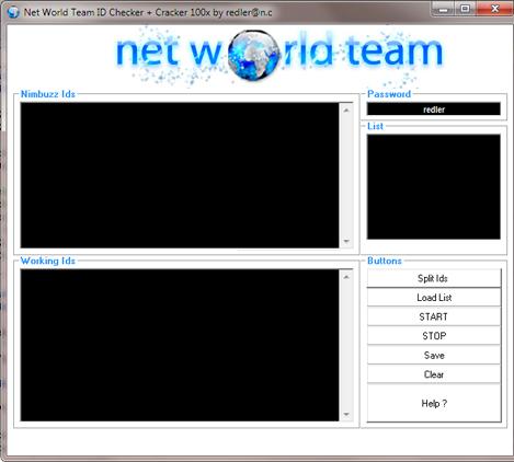 Net World Team ID CRACKER + ID CHECKER 100x by redler Craker