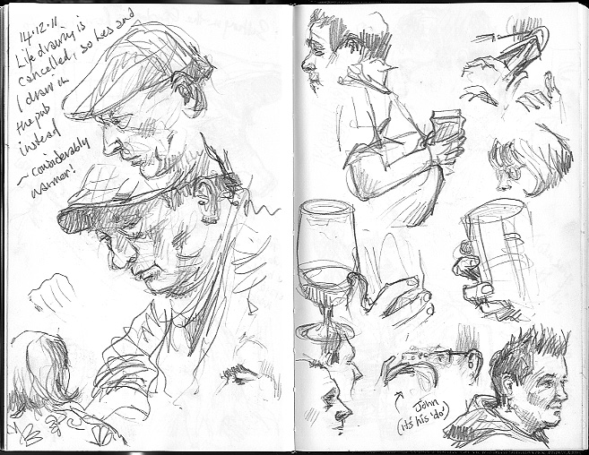 Urban Sketchers: Drawing People in the Pub
