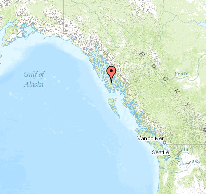 Map of Thorne Bay, Alaska