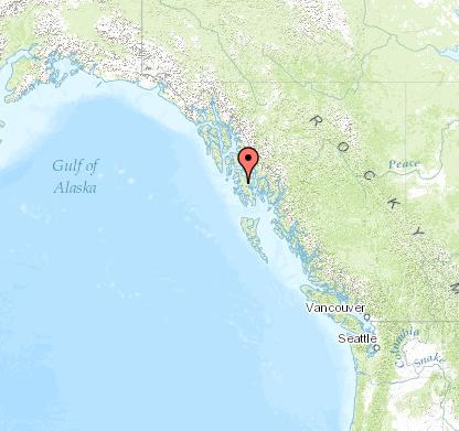 Map of Thorne Bay, Alaska