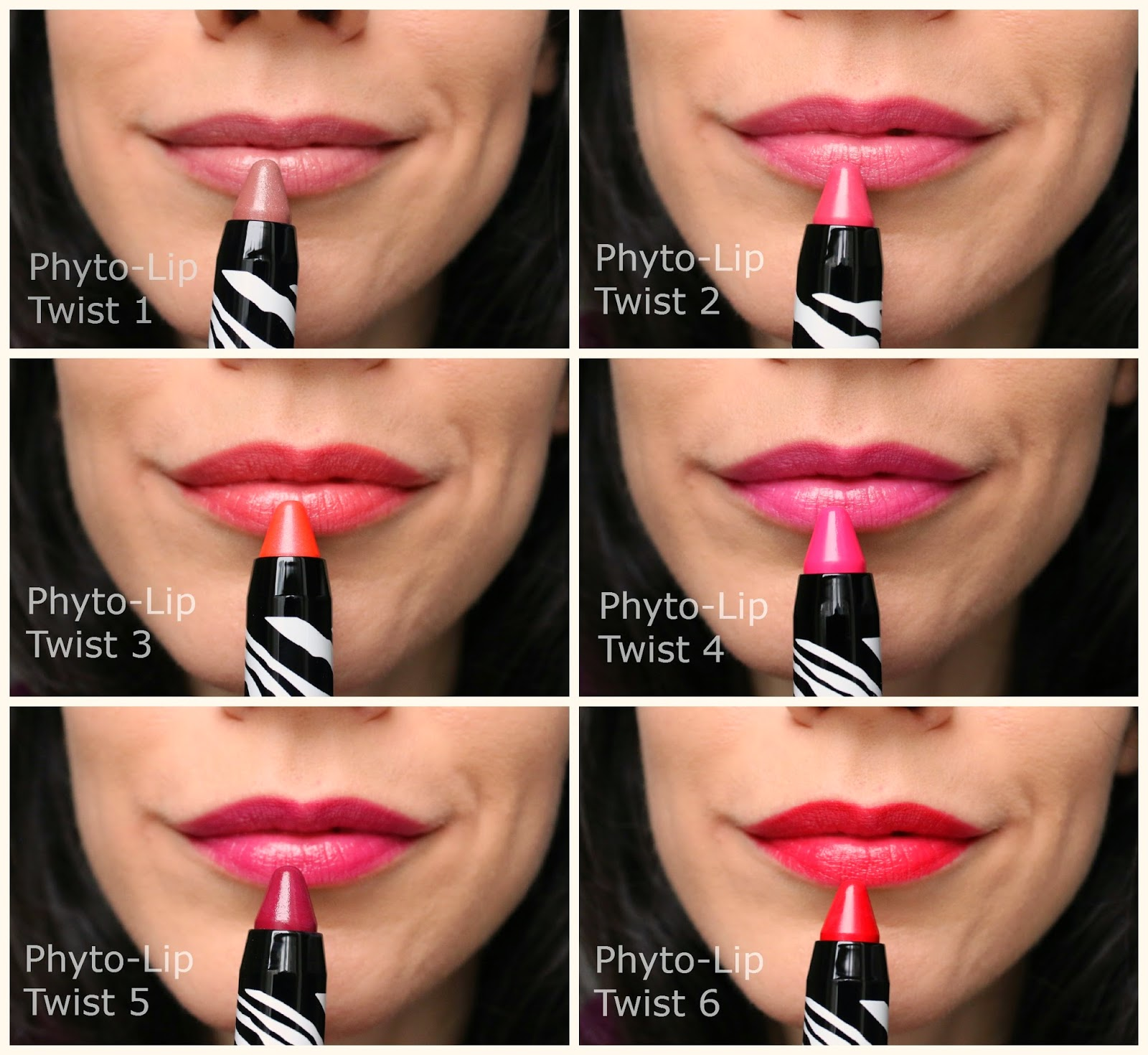 Sisley Phyto-Lip Twist swatches