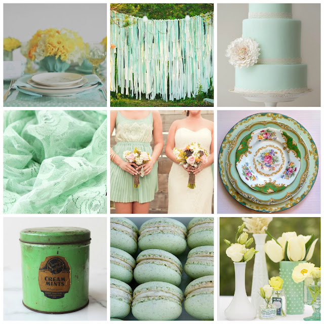 Mint Wedding Inspiration on Darling Cashmere